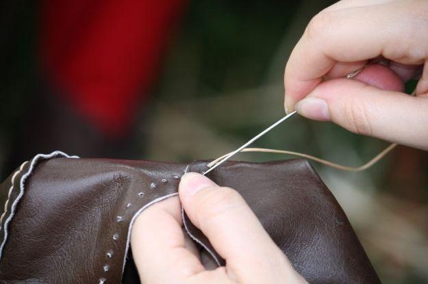 cucire borsette in pelle